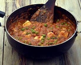 Paneer Tikka Masala, Green Pea and Paneer Tikka Masala recipe | Jain Recipes | by Tarla Dalal | Tarladalal.com | #7546