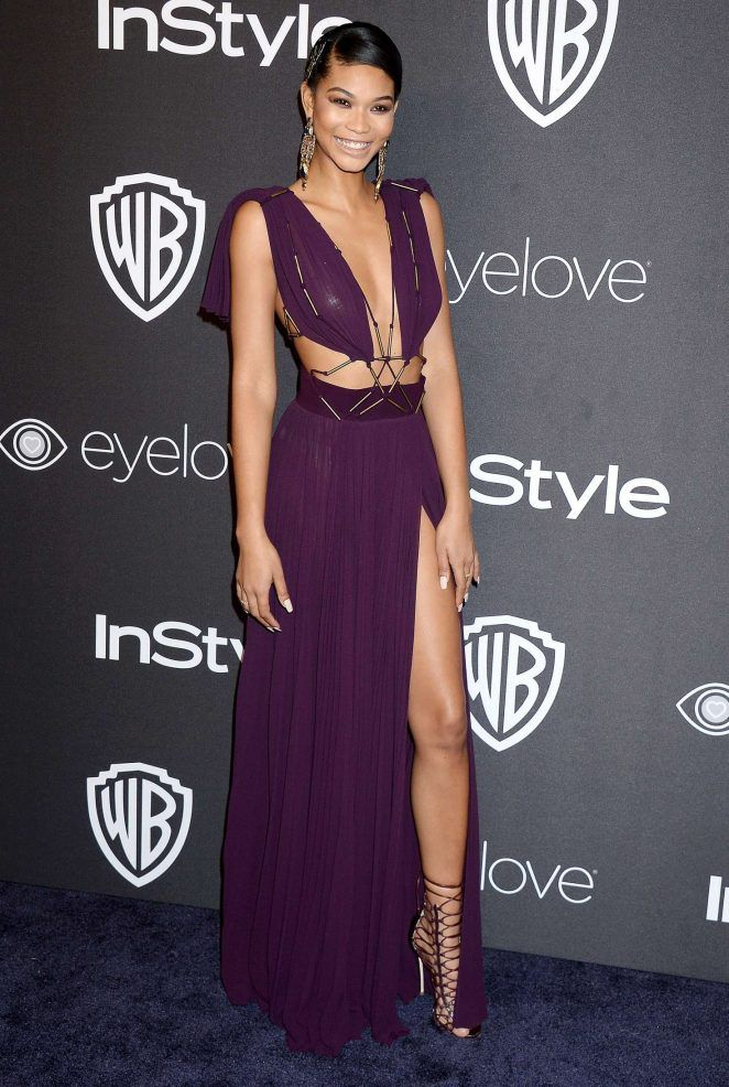 "dailyactress: ""Chanel Iman – 2017 InStyle and Warner Bros Golden Globes After Party in LA """
