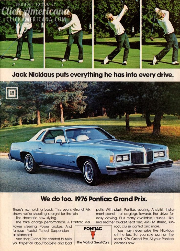 Jack Nicklaus for the 1976 Pontiac Grand Prix #classiccars