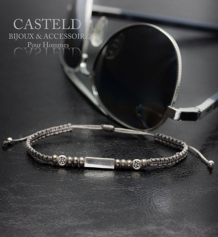 Ce bracelet Homme n'est pas un accessoire, Le Bracelet Corde de CASTELD à découvrir... #bijouxhomme #bracelet #tendance #madeinFrance #lifestyle #jewerly #masculin #bijouxcréateur http://www.casteld.com/bijoux-homme/bracelet-homme-fin-perle-argent