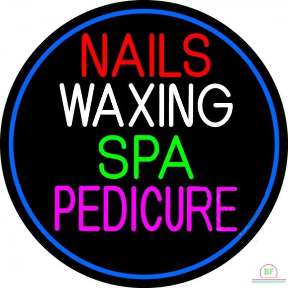 Nails Wa ing Spa Pedicure Neon Sign Real Neon Light