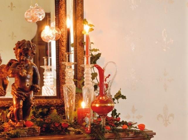 Décorations de Noël traditionnelles pour cheminées 2
