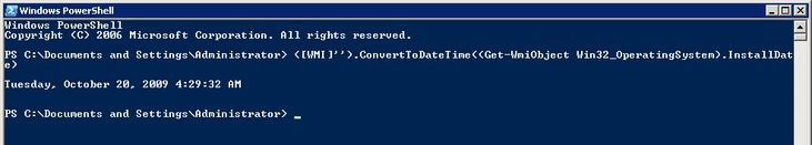 "Determine a Windows Server build date with these one-liners #build #a #cloud #server http://malawi.remmont.com/determine-a-windows-server-build-date-with-these-one-liners-build-a-cloud-server/  # Determine a Windows Server build date with these one-liners If you're asked, ""When was this server installed?"" you may have to get creative to determine the answer. Determining when a server was built can be tricky because administrators may have cleared out the event and system logs, or they may…"