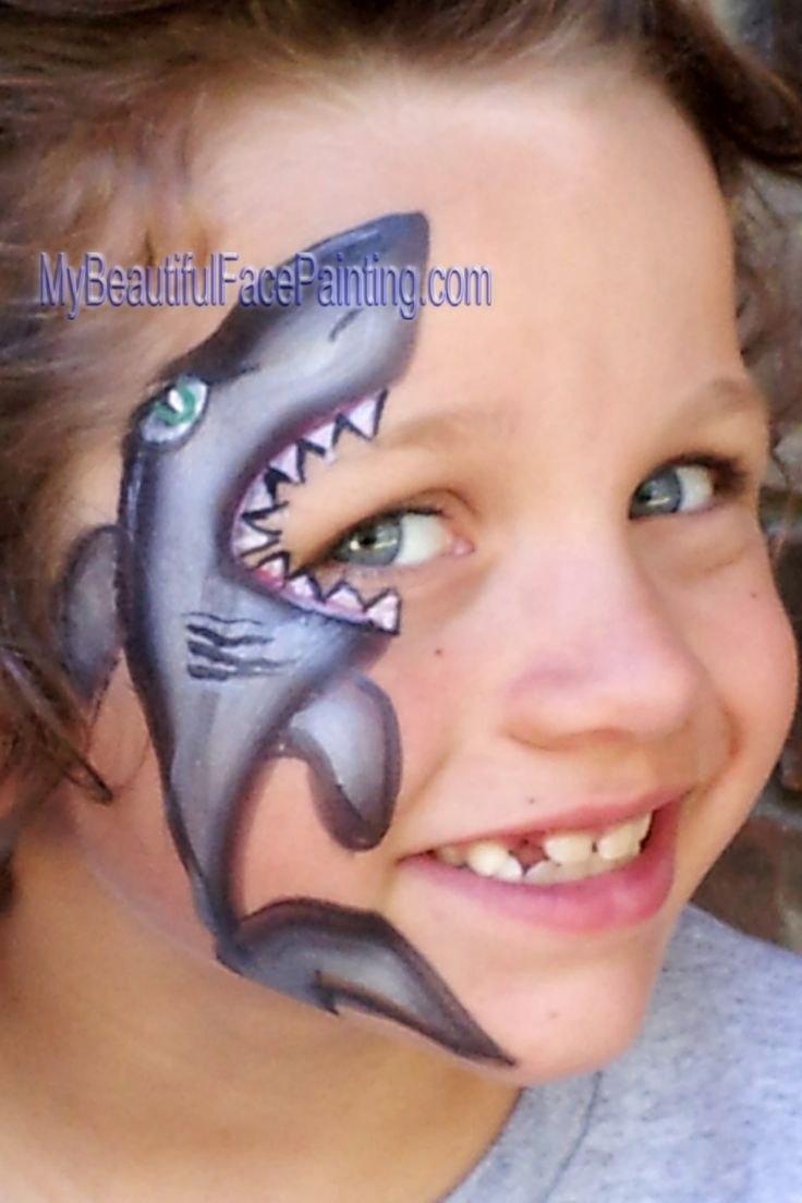 Fun shark face paint for boys. | Fp EYES | Pinterest ...