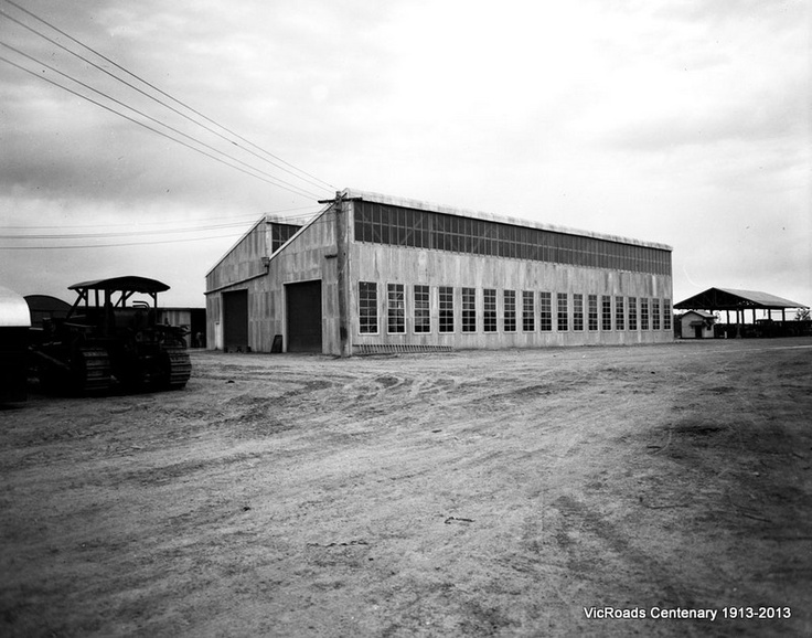 1953 Ext view of CRB Workshops in Benalla. VicRoads Centenary 1913-2013.