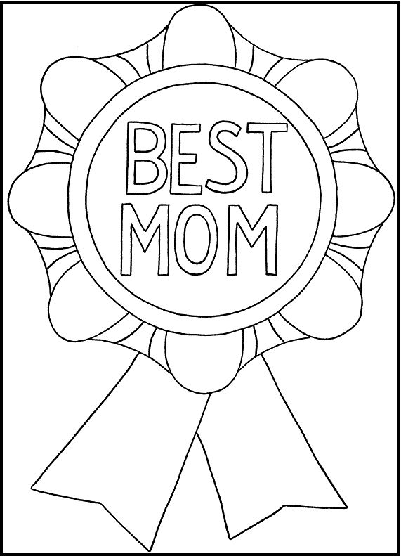 coloring pages mom and kids - photo#26