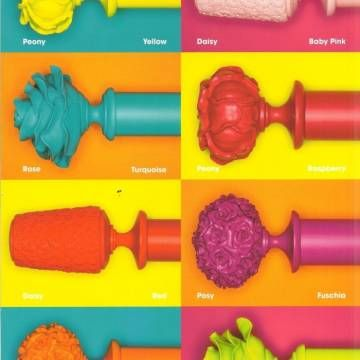 CURTAIN POLES IN EVERY COLOUR …    Polychromatic curtain poles are in!  Curtain poles in neon colours… what a fun way to brighten up your home!  We love these new Neon Curtain Poles from Byron and Byron… such a fun way to add a modern and fun spin on something that is often associated with a more traditional look  Available colours are: Turquoise, Orange, Yellow, Lime Green, Fuschia, Baby Pink, Red and Raspberry