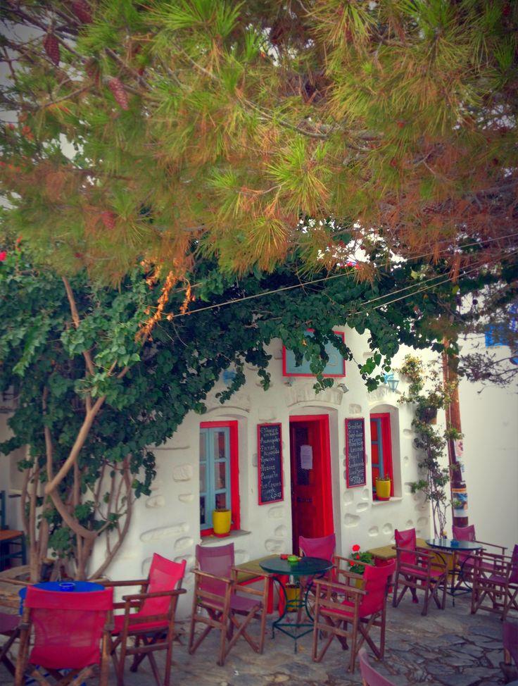 Kath'Odon coffee in Chora - Amorgos Island