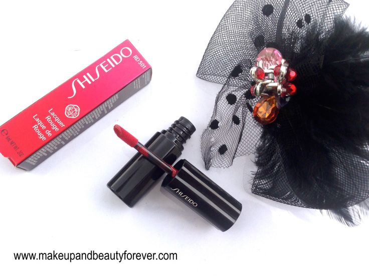 Shiseido Lacquer Rouge Liquid Lipstick Drama RD 501 Review, Swatches, Price and FOTD   http://www.makeupandbeautyforever.com/shiseido-lacquer-rouge-liquid-lipstick-drama-rd-501-review-swatches-price-and-fotd/