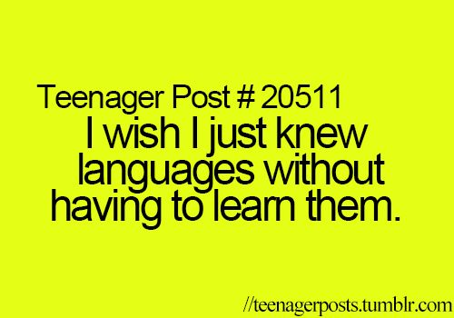 YES! But, I grew up hearing Greek so I know that but I want to learn others. XD