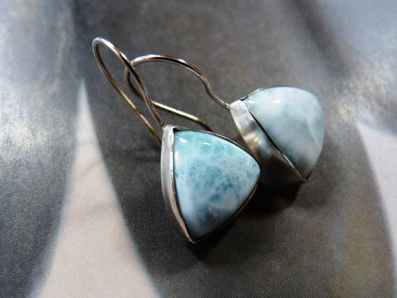 Larimar silver earrings dangles everyday wear affordable