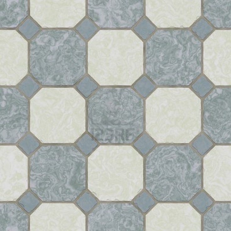 Ceramic Tile Kitchen Floor - Seamless Texture Stock Photo