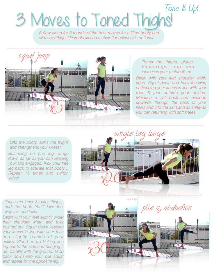 Best 3 Moves for Toned Thighs ~ Follow Along Style