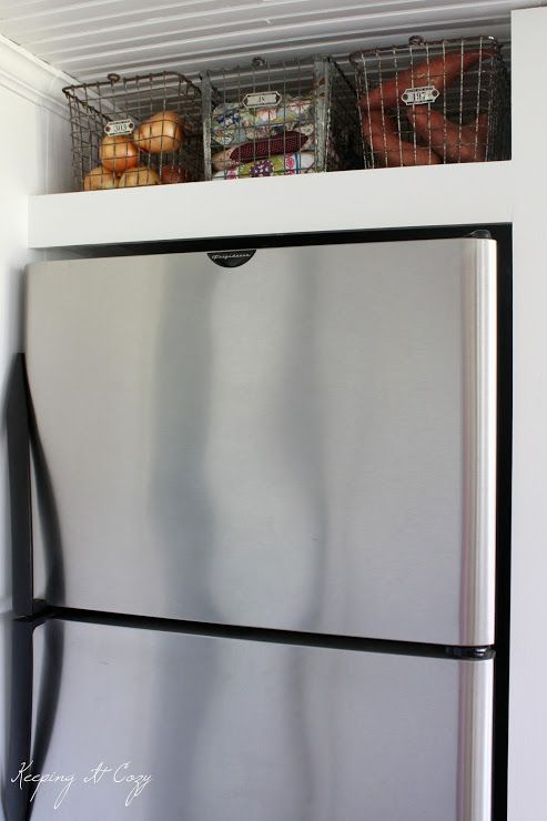 Keeping It Cozy: Kitchen Update: Building a Refrigerator Cabinet