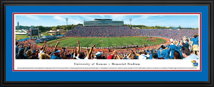 Kansas Jayhawks Panoramic - Memorial Stadium Picture $199.95