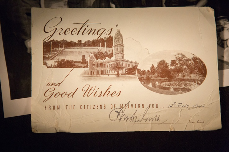 Greetings and Good Wishes from the citizens of Malvern.