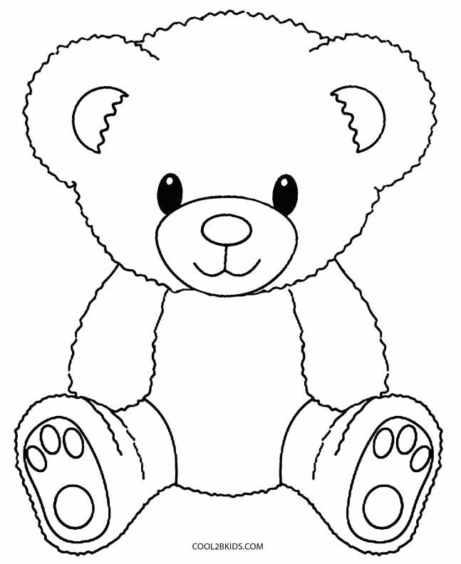 Printable Bear Coloring Pages Printable Teddy Bear Coloring Pages