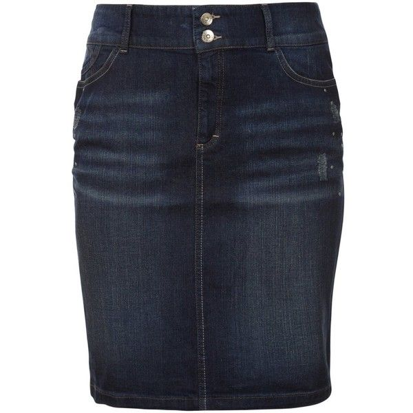 Triangle by s.Oliver Denim skirt ($99) ❤ liked on Polyvore featuring skirts, bottoms, denim skirts, blue, blue denim skirt, s.oliver, print skirt, pocket skirt and zipper skirt