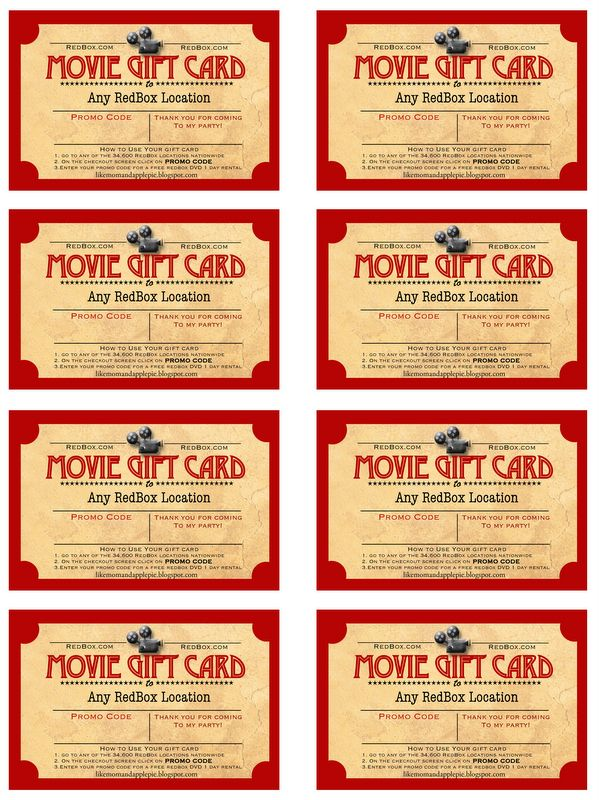 25+ Unique Redbox Gift Card Ideas On Pinterest The Redbox, Red   Make Gift  Make Gift Vouchers Online Free