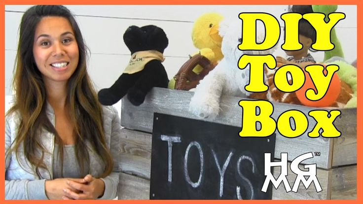 DIY Wooden Toy Box Build Project with Ana White - YouTube