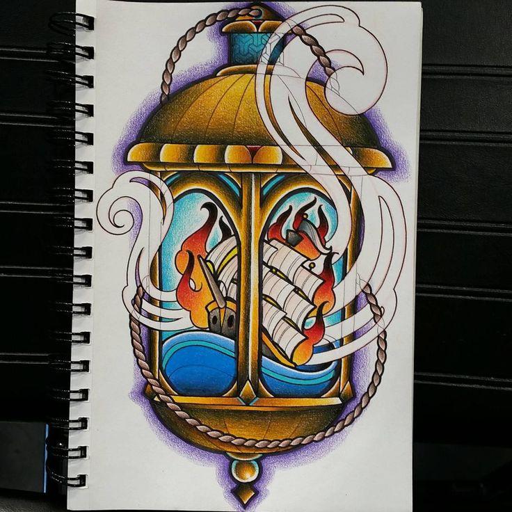 Fun little ship wreck lantern drawing... thanks for looking! #tattoo #tattoos #tattooart #tattooflash #colortattoo #colortattoos #lanterntattoo #shipwrecktattoo #traditional #traditionaltattoo #traditionalish #neotrad #neotraditional #neotraditionaltattoo #newschooltattoo #vegas #lasvegas #lasvegastattoos #lasvegastattooer #lasvegastattooartist #vegasink #rad #notenoughhashtags