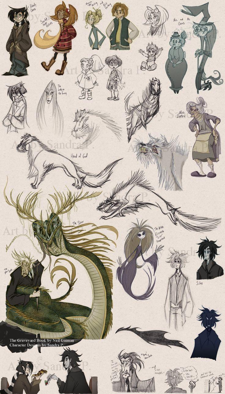 New Graveyard Book Sketches By Roseandthorniantart On @deviantart