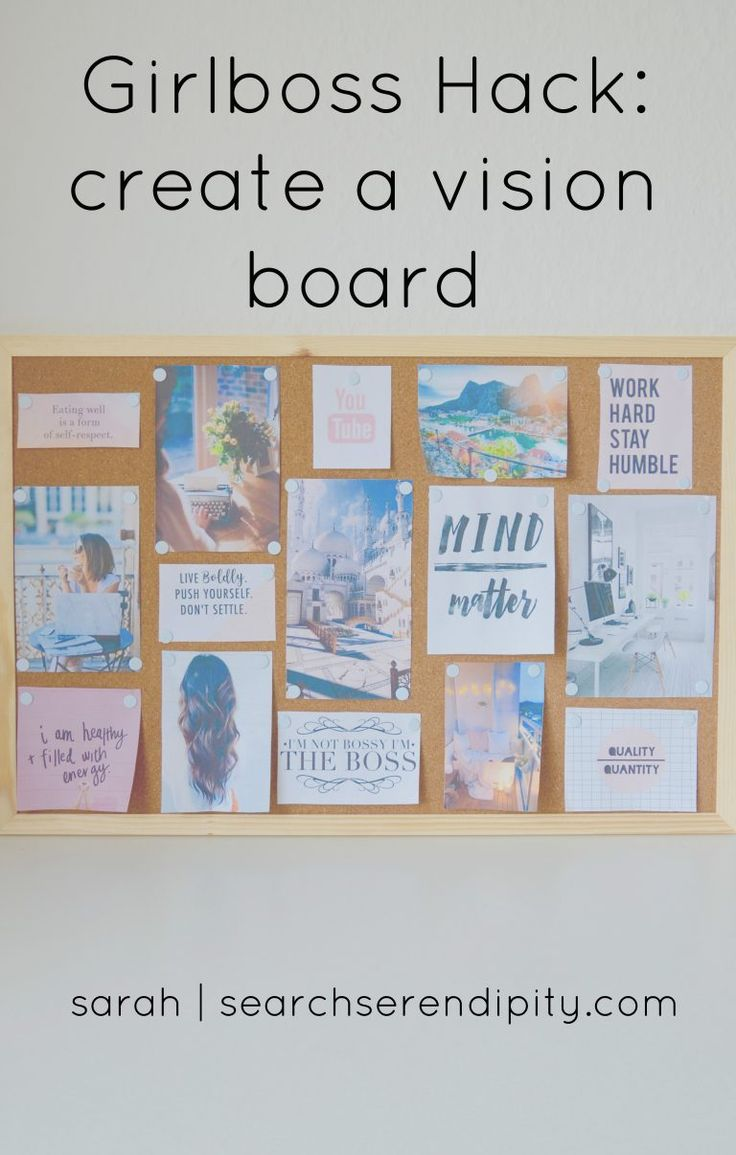 Girlboss Hack Vision Board Create A Visualize Law Of Attraction
