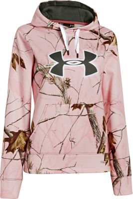 Designed with you in mind, Under Armour's Women's Camo Big Logo Hoodie hangs with your spirit of outdoor adventure. Soft, durable 100% polyester shell protects you from the elements so you can stay outside longer.