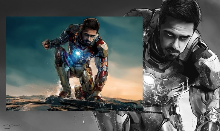 #ironman3 digital #drawing - inLite Illustrations & Design #tonystark