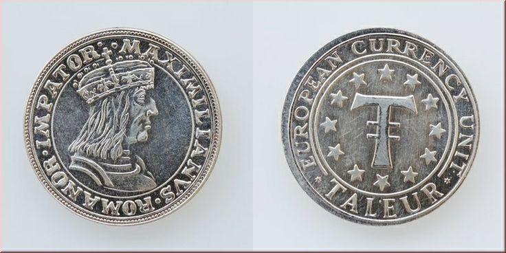 Silbermedaille European Currency Unit