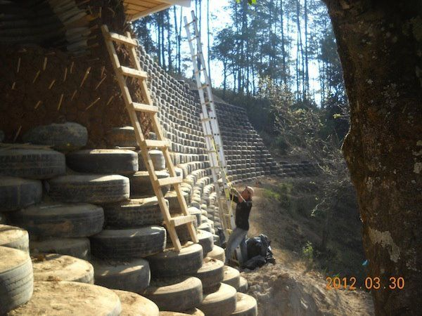 Tire Retaining Wall Studio Ubc Farm Pinterest