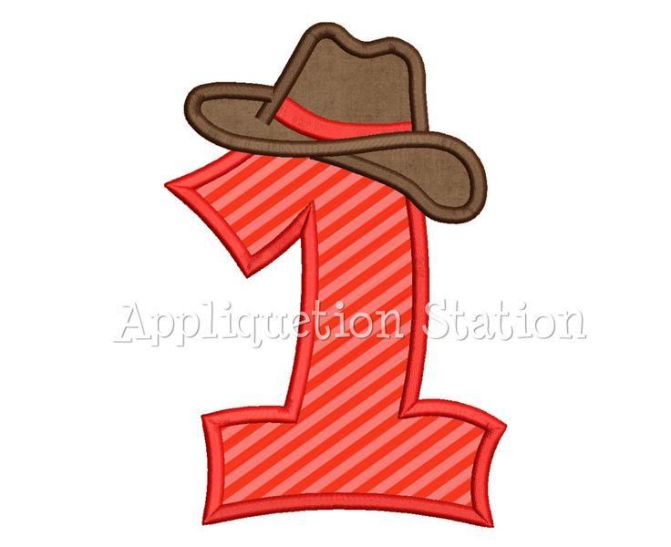 Chapeau de Cowboy numéro un 1er garçon anniversaire Applique