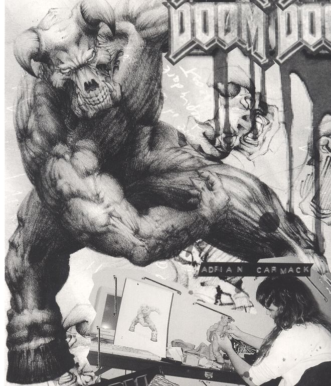baron of hell sketch (Doom Game PC)