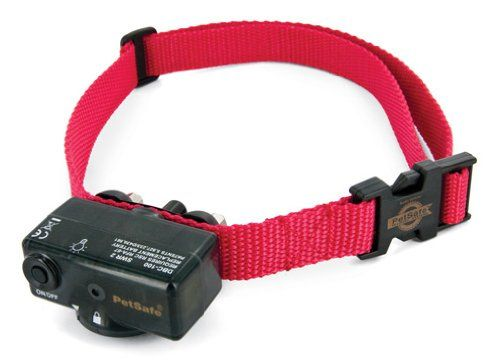 Petsafe bark control collar The Deluxe Bark Control Collar has a unique duel-detection, using both vibration and sound sensors to discriminate each bark from other external noises. The most reliable bark detection technology available.  dog-supplies. http://www.innotekbarkcollar.com/Petsafe-collar.html