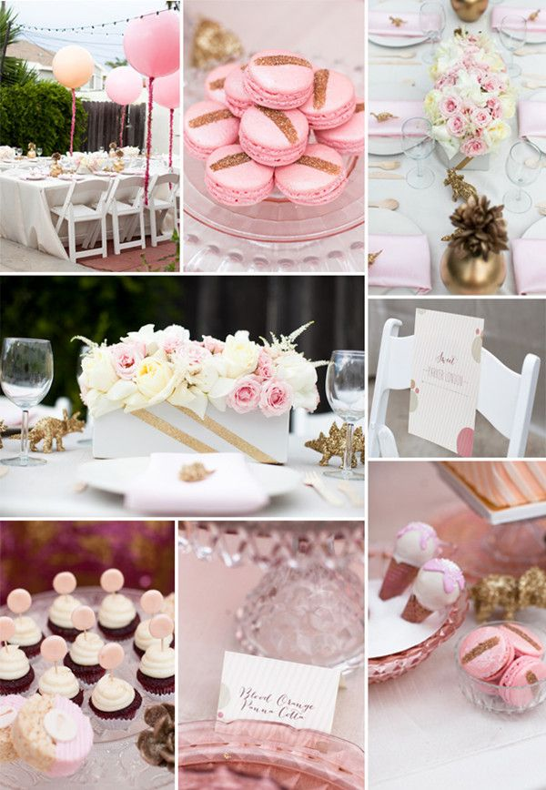 pink baby shower ideas with balloon decorations