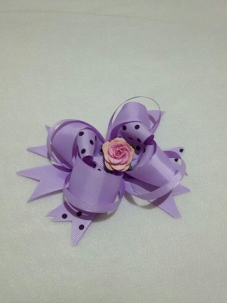 5$  Purple buble hairclips