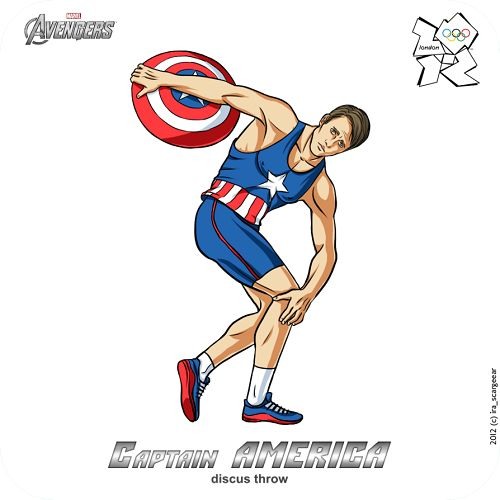 Captain America at the Olympic game, The Avengers