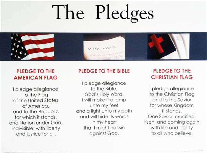 Pledges Christian Flag Bible American Flag