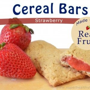 Homemade Strawberry Cereal Bars (maple syrup instead of agave)