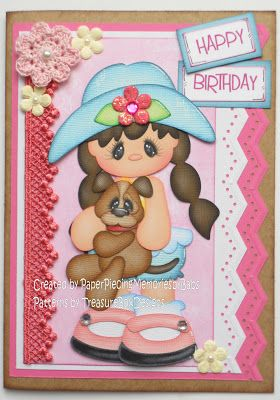 Birthday Card - created by PaperPiecingMemoriesbyBabs using Treasure Tot Julie