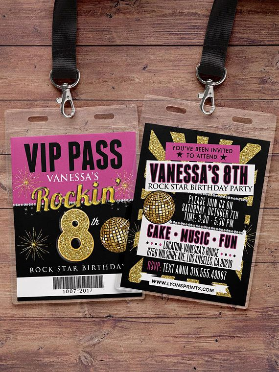 White party VIP PASS 21st birthday backstage pass concert