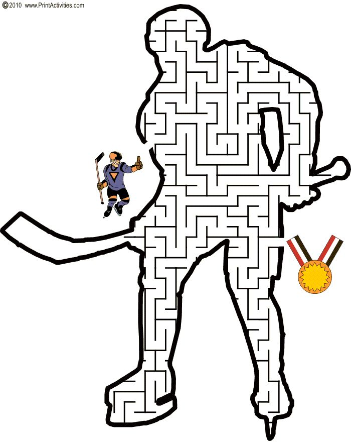 Labyrinthe Joueur d'hockey
