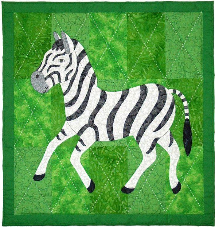 Zoe Zebra Quilt Pattern SCN-2061 (intermediate, wall hanging, baby)