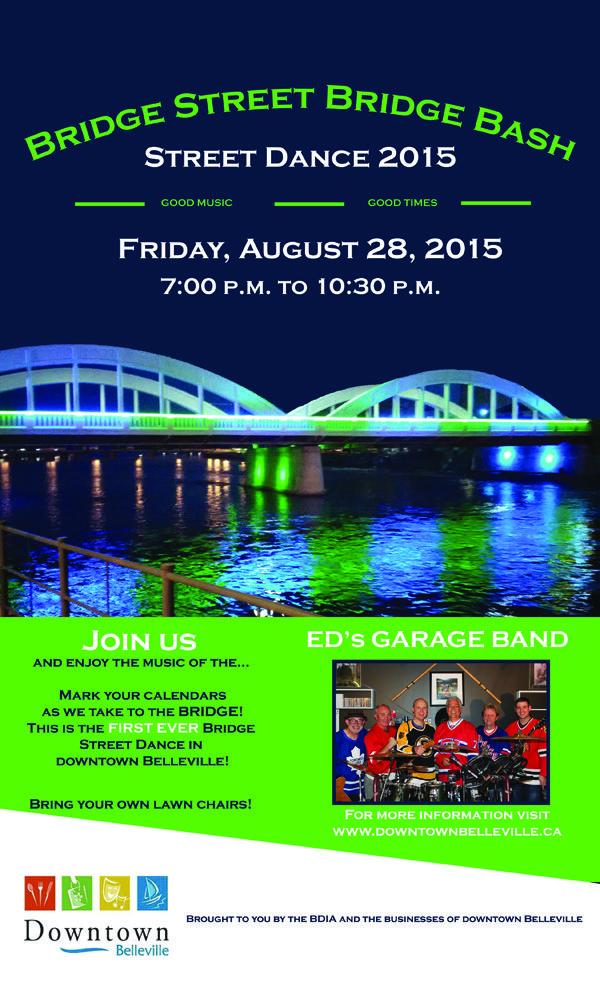 Bridge Street Bridge Bash Street Dance 2015 Friday, August 28, 2015 7:00 PM to 10:30 PM in Downtown Belleville