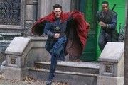Actors Benedict Cumberbatch and Chiwetel Ejiofor are spotted in full costume filming scenes for the latest Marvel superhero movie, 'Doctor Strange' in New York City, New York on April 2, 2106. The movie tells the story of Stephen Strange, played by Cumberbatch, a brilliant but arrogant and conceited surgeon who gets a new lease on life when a sorcerer takes him under his wing and trains him to defend the world against evil.