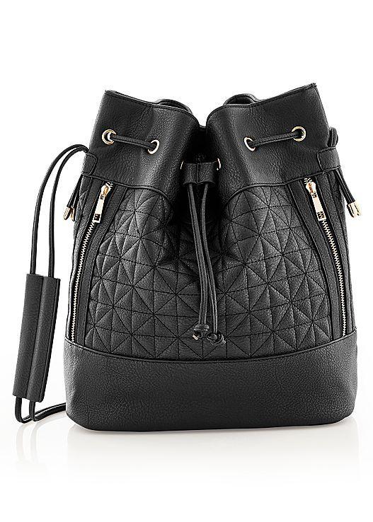 Always pack the essentials in the Venus drawstring bucket bag.