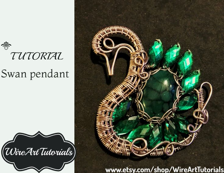 Wire wrapped Swan Pendant TUTORIAL, wire wrapping weaving jewelry,animal necklace pendant, animal jewelry, necklace, pendant, butterfly lady mask, beading step by step guide, learning artisan craft, handmade art, artisan creations