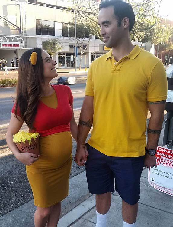 21 diy couples costumes for halloween - Pregnant Halloween Couples Costumes