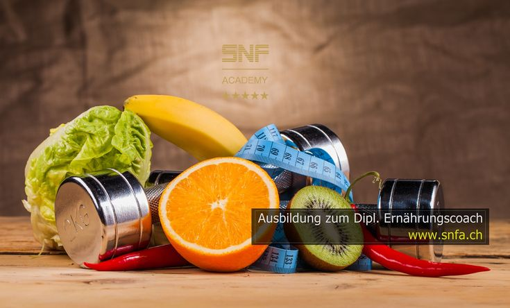 Ausbildung zum Dipl. Ernährungscoach SNFA - Details & Anmeldung: www.snfa.ch