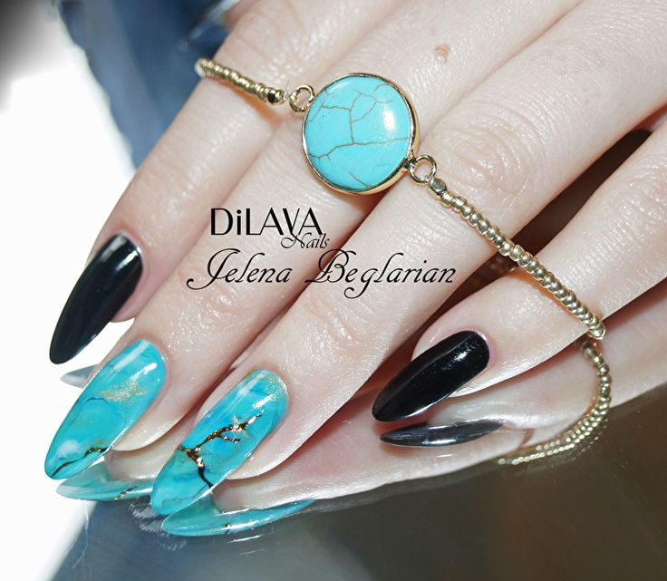 Marble Stone Nails by DiLAVA nails